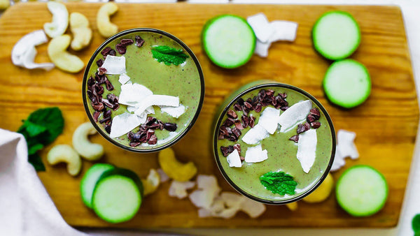 Mint Cacao Smoothie with Bone Broth