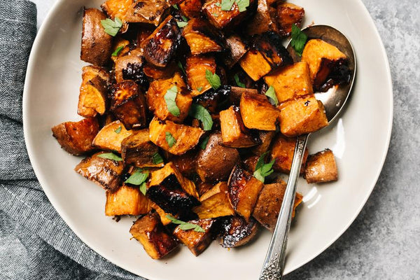 Sweet & Salty Roasted Sweet Potatoes