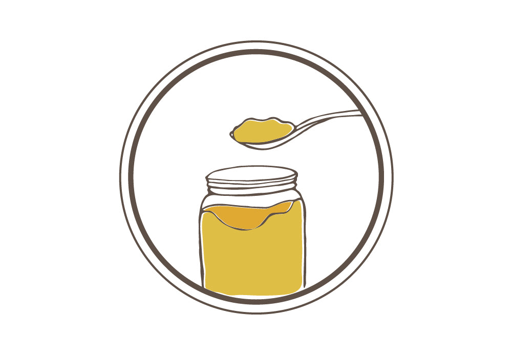 bone broth geling in jar icon