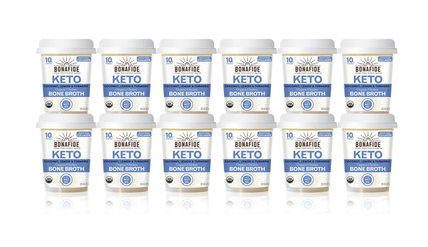 12-Pack Lemon, Turmeric & Coconut Oil Keto Broth (Dairy-Free, Paleo)