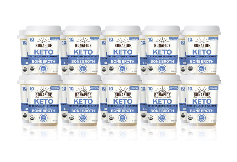 20-Pack Lemon, Turmeric & Coconut Oil Keto Broth (Dairy-Free, Paleo)