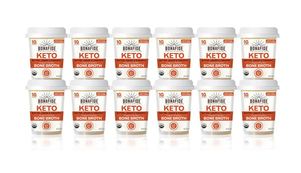 12-Pack Lemon, Turmeric & Butter Keto Broth