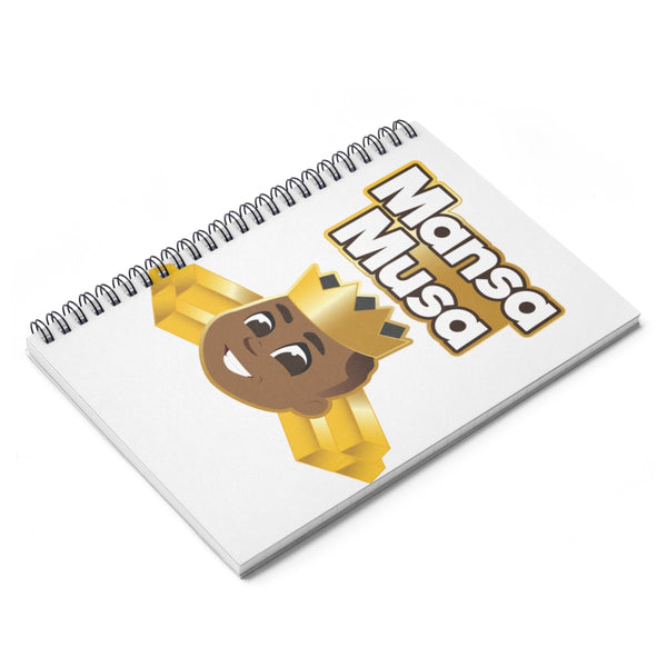 Great IS Who I Am -Mansa Musa Spiral Notebook - Ruled Line