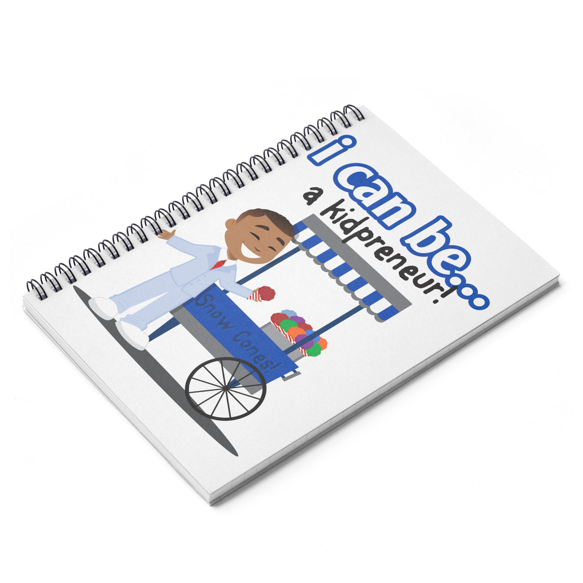 Suit and Tie Kidpreneur notebook