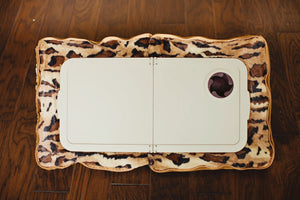 Signature 3-in-1 Brown Cheetah Tray Pillow