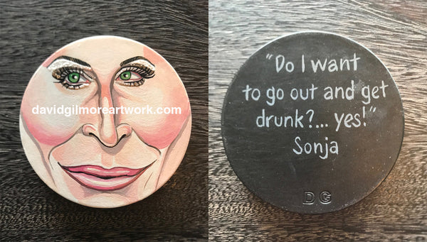 Sonja Morgan drink coaster