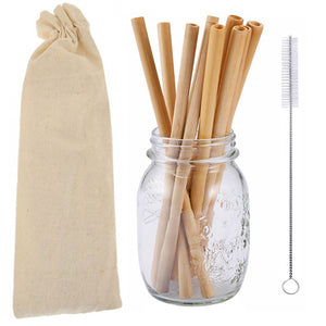 Bamboo Straws - Set of 10 - Truly Vegan