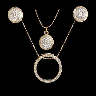 Multi-tiered Crystal Circular Chain Sets