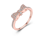 Beautiful Cubic Zirconia Bow-Tie Ring (size 6-9)