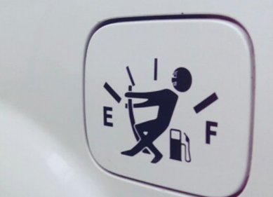 Fuel Gage Empty  Funny Car Vinyl Sticker