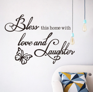 Bless This Home Vinyl Wall Decal Sticker Quote