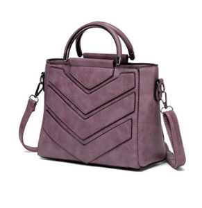 Trendy Leather Crossbody Tote Handbag