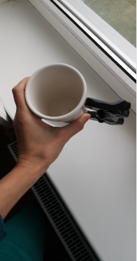 Coffee Mug with 3D Game Controller Handle