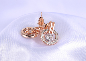 Rose Gold Jewelry Set (Necklace & Earring)
