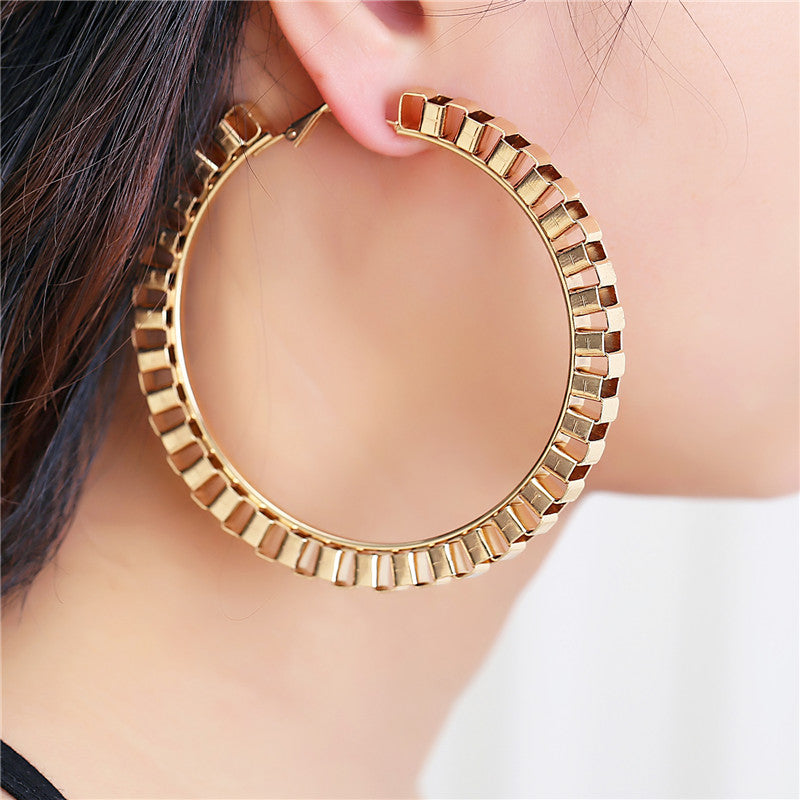 Big Beautiful Circle Hoop Earrings in Gold/Sliver Plated
