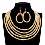 MultiColor African Statement Jewelry Set