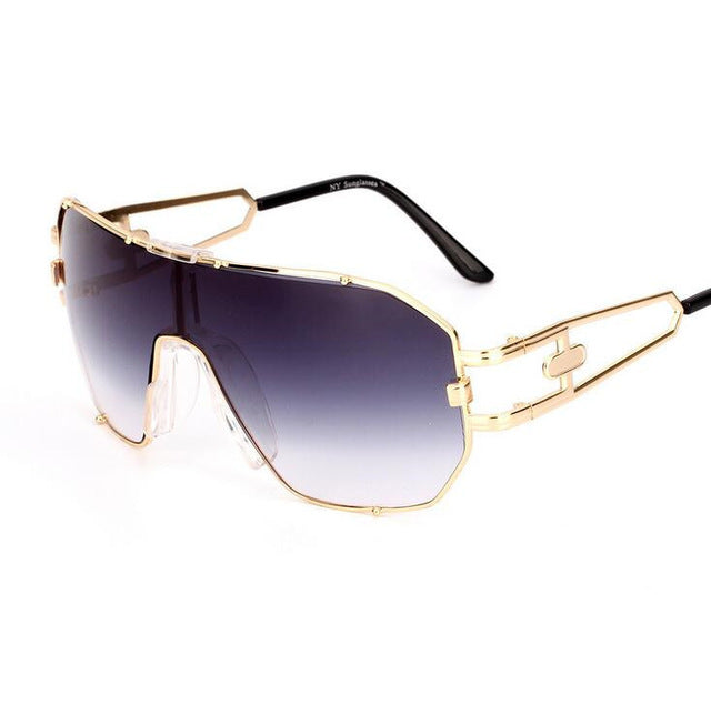 Women Square Sunglasses with Big Vintage Frame (UV400)