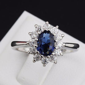 Beautiful AAA Cubic Zirconia Ring (Sapphire, Ruby)