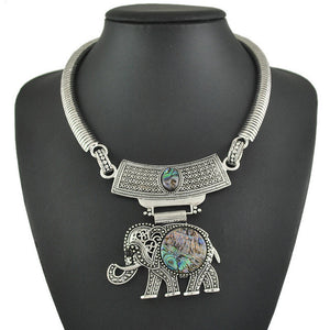 Elephant Bib Statement Necklace