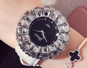 Women's Watch Shining Bling Crystal Leather Band