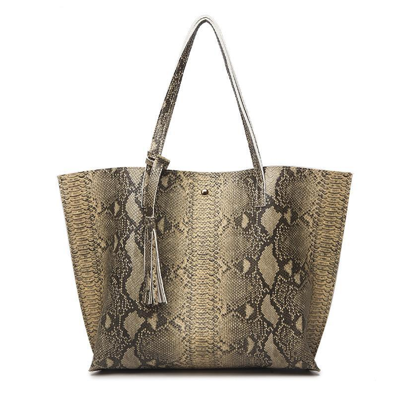 Luxury Soft Leather Tote Bag w/tassel in Vibrant Prints and Colors