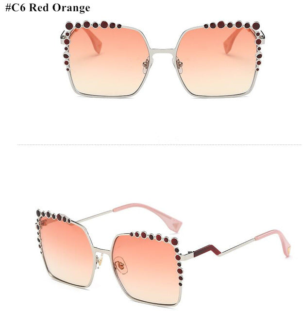Women Oversized Aviation Square Sunglasses UV400