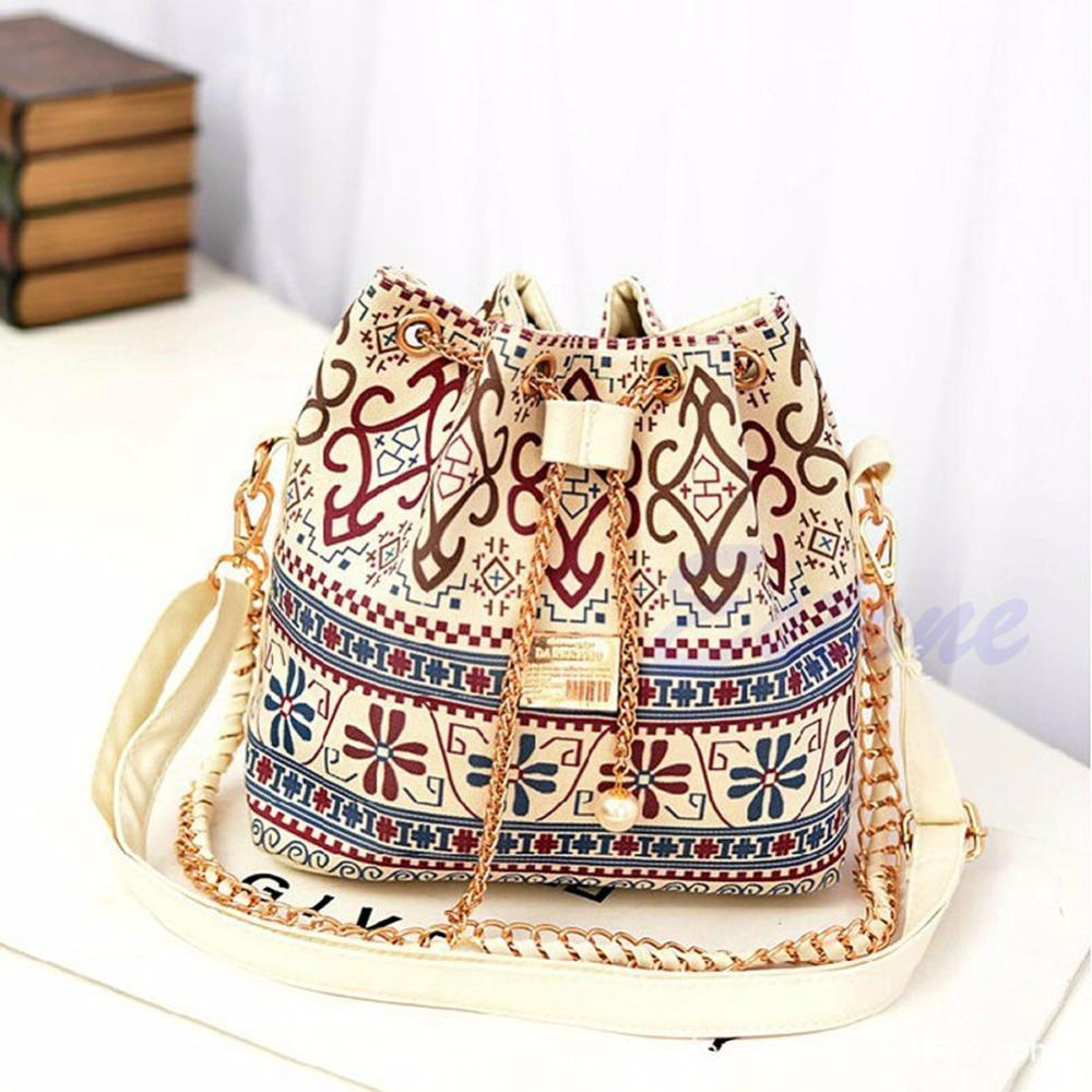 Boho Bucket Styled Satchel Clutch Bag