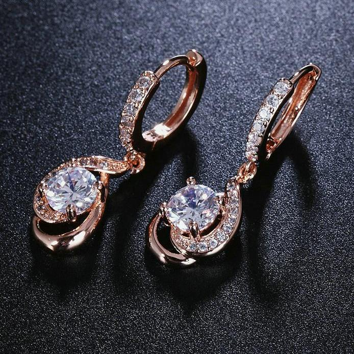 AAA Cubic Zirconia Dangle Drop Earrings