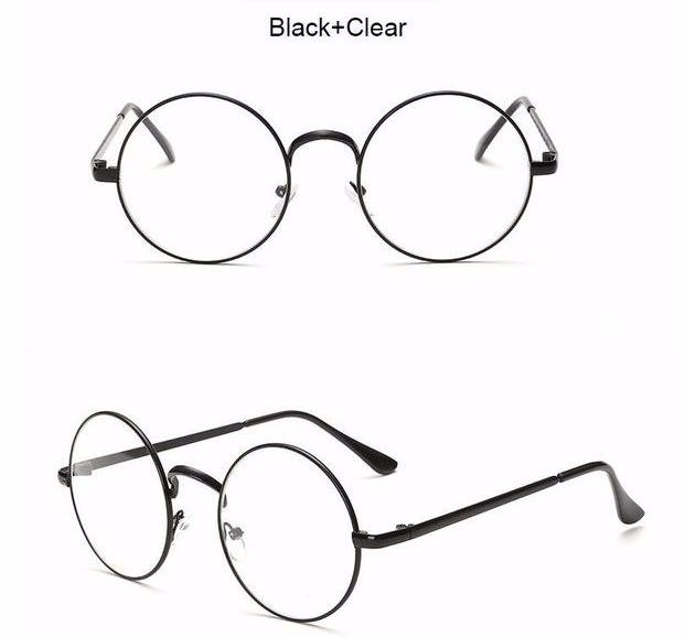Oversized Round Framed Clear Lens Fashion Eyewear for Men and Women