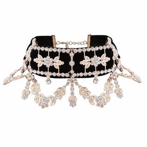 Luxury Statement Rhinestone Choker Maxi Crystal Necklace