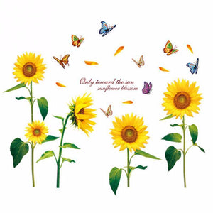 Sunflower Wall Stickers for Bedroom,Living room ,Office, etc.