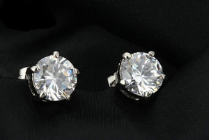Top Quality 5 Prong 2ct Cubic Zirconia Stud Earrings