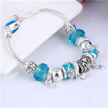 Crystal Charm Bracelets in a BEAUTIFUL Variety of Styles and Colors