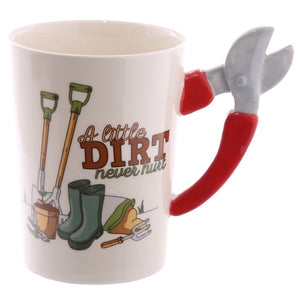 Unique Mug with Gardening Tool Handle