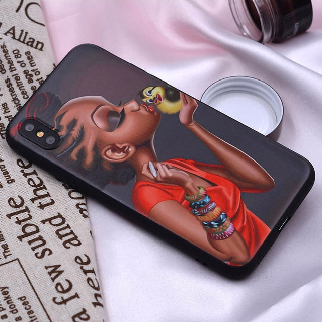 SUPER CUTE GIRL-POWER iPHONE CASES (iPhone 5 5S, 6, 6S,7, 8, plus,X XS, Max, XR)