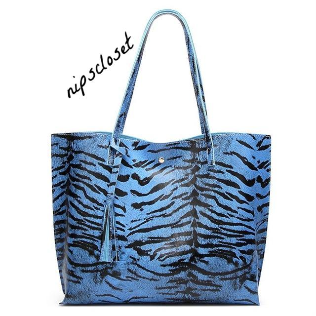 Designer Leather High Quality Tassel Tote Bag in VIBRANT Patterns & Colors!