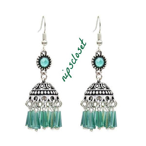FABULOUS Vintage Bohemian Rhinestone Earrings