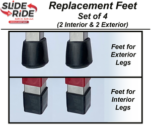 Slide 'n Ride vehicle transfer seat - Replacement FEET (Set of 4)