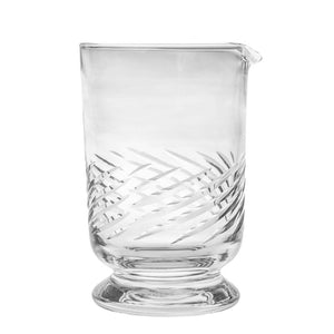 Potion House Swirl Etch Footed Mixing Glass (case of 12)
