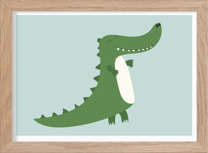 The Crocodile - Art Print - Kunskapstavlan