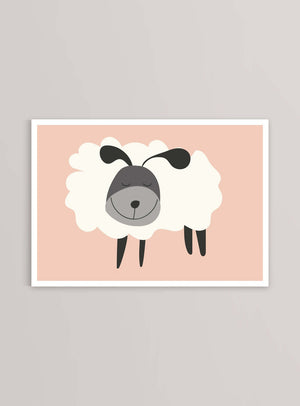 The Sheep Lammet Fåret - Art Print - Kunskapstavlan Poster