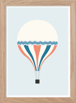 The Hot Air Balloon - Art print A5 - Kunskapstavlan
