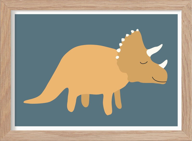 Dinosaurie Triceratops NEW - Mini print A5