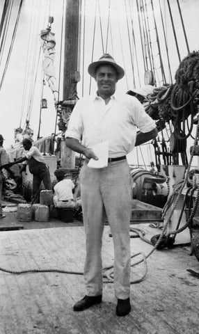 William 'Bill' McCoy aboard his flagship, the Tomoka.
