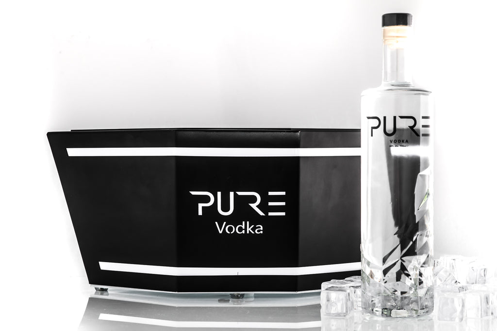 PURE Vodka LED Rechargeable Ice Bucket