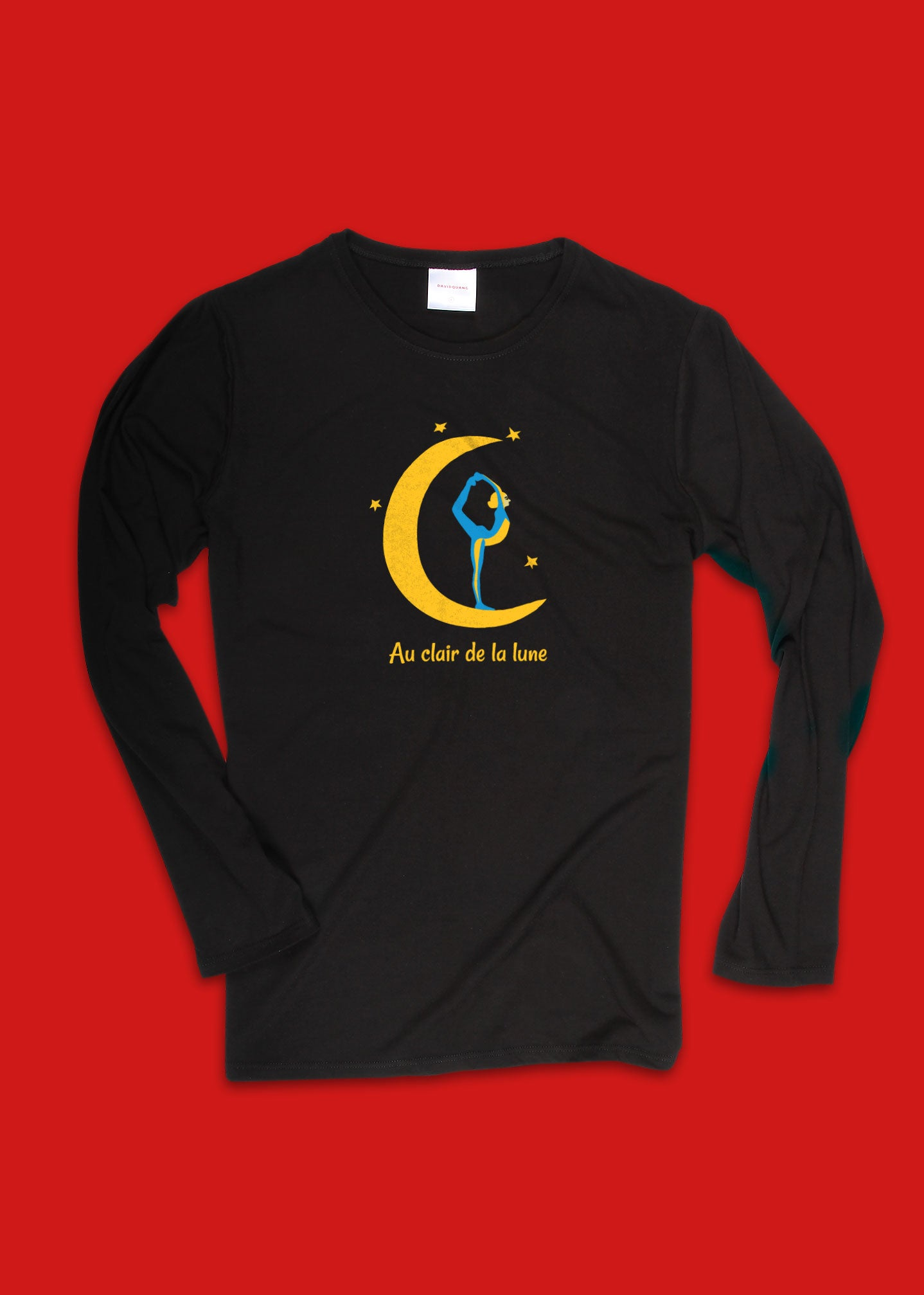 Women's Long Sleeve T-Shirt with Moon Yoga Print