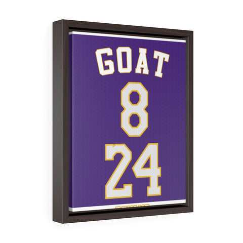 "Vertical Framed Premium ""GOAT"" Gallery Wrap Canvas"