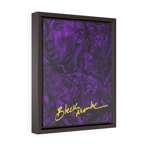 "Vertical Framed Premium Gallery ""Mamba Skin ""Wrap Canvas"