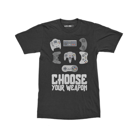 """Pick Your Weapon"" Cotton T-Shirt"