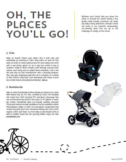 Oh The Places You'll Go - Eco Parent Magazine - Bumbleride Era